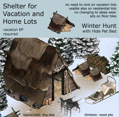 winter hunt hut