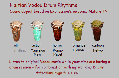 vodou drum sounds